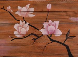 Christian aquarelle encre de chine sur bois 333